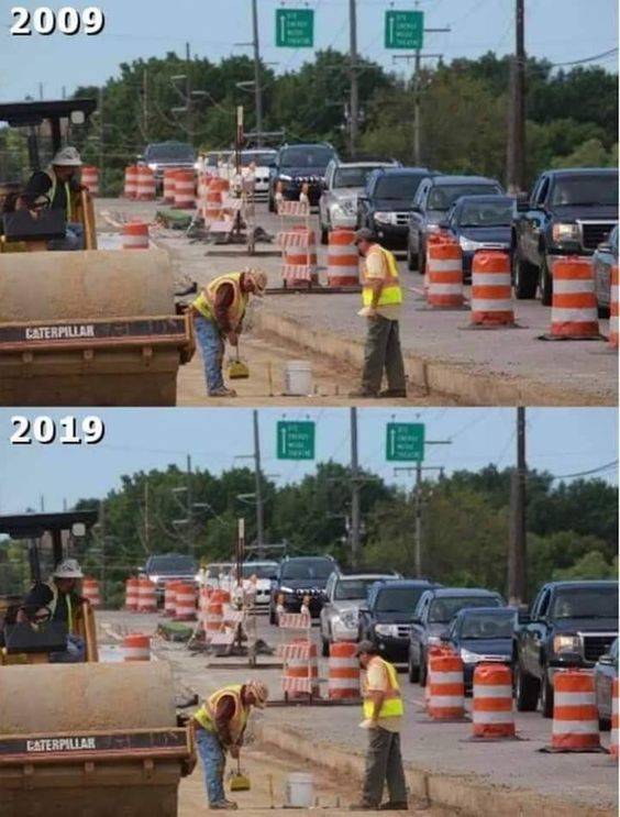 Road Construction 10 Year Challenge