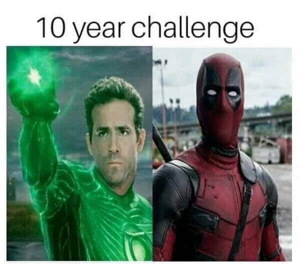 Ryan Reynolds 10 Year Challenge