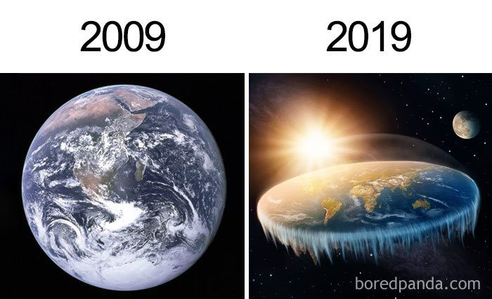 The Earth 10 Year Challenge Meme