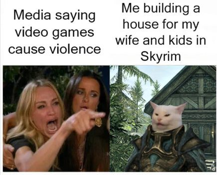 The Media Saying Video Games Cause Violence