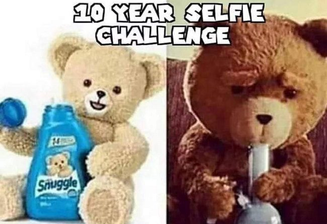 The Snuggle Bear 10 Year Challenge