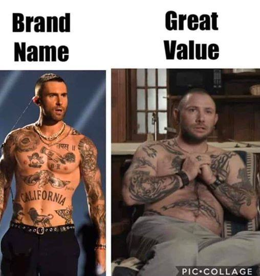 Brand Name And Great Value