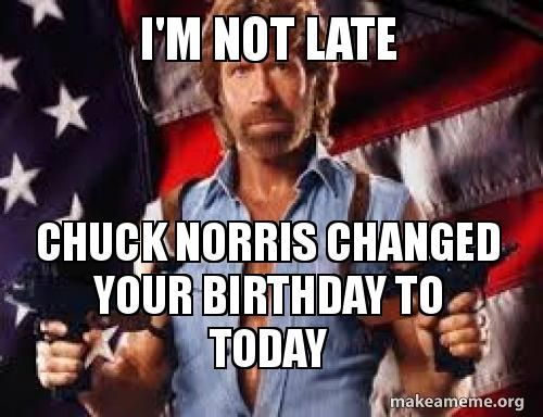 Chuck Changed Your Birthday
