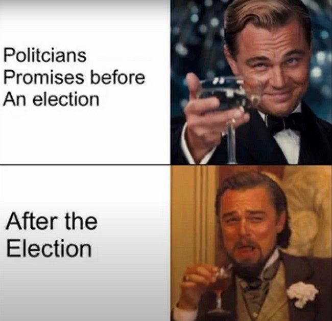 Politicians Before And After The Election