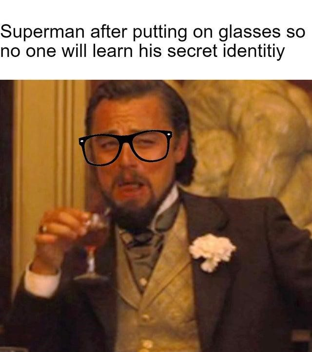 Putting His Glasses On